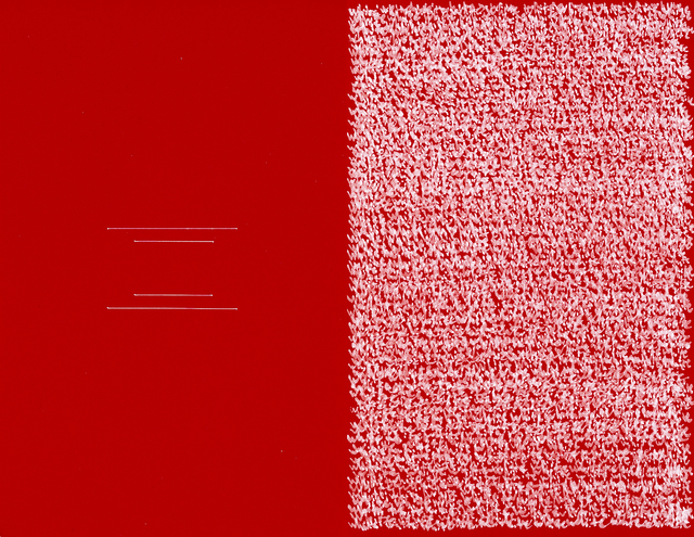 , 'Reordered Rectangle, White & Red,' 2018, Taik Persons