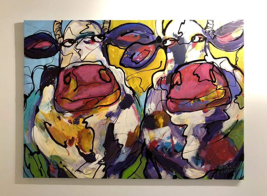 """""""Colourful Cows"""" by Dutch artist, Janet Timmerije"""