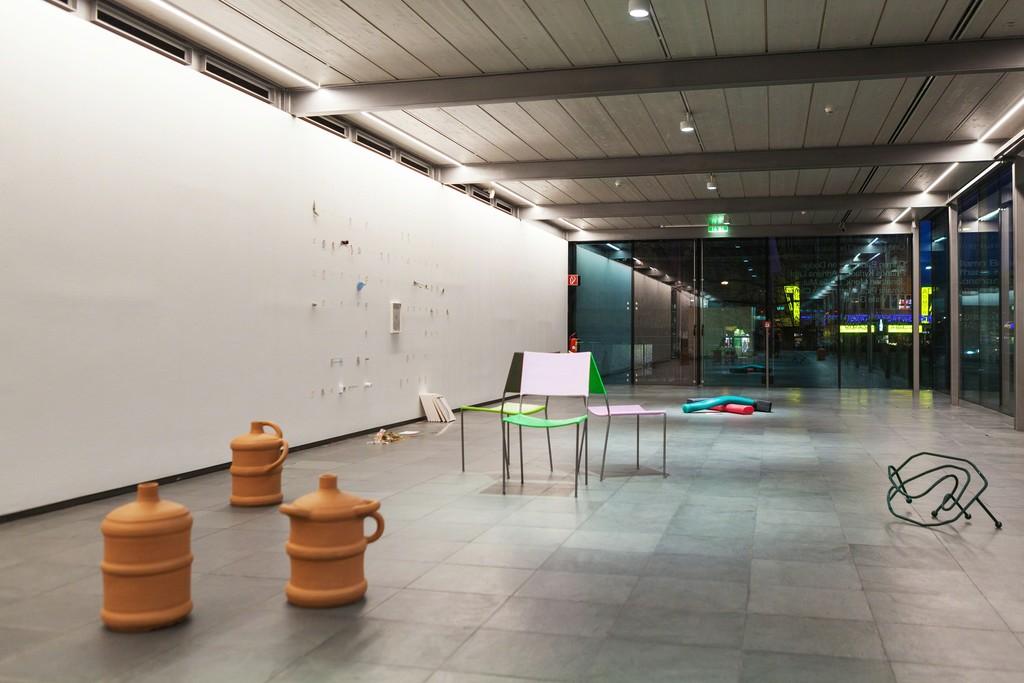 Installation view One, No One and One Hundred Thousand, arranged by Tanja Ivanova & Elena Kisel, Kunsthalle Wien 2016, Photo: Maximilian Pramatarov