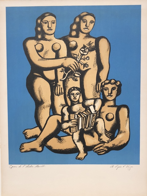 Fernand Léger, 'The Accordionist's Family', ca. 1950, Print, Lithograph in colors, Denis Bloch Fine Art
