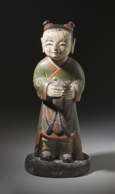'Altar Attendant (Tongja) Holding a Turtle', Joseon dynasty (1392-1910); 18th century, Los Angeles County Museum of Art