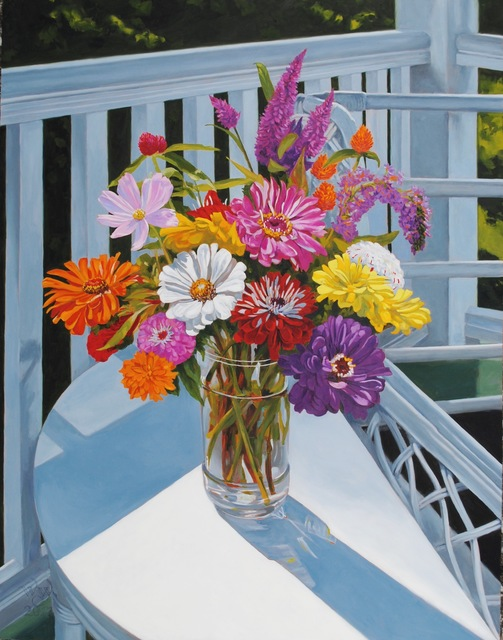 , 'Zinnias on the Porch,' , Beverly McNeil Gallery
