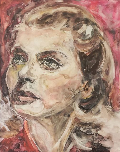 ", '""I've gone from saint to whore and back to saint again, all in one lifetime."" -- Ingrid Bergman,' 2017, Ro2 Art"