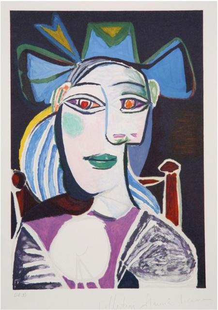 Pablo Picasso, 'Buste de Femme au Chapeau Bleu', 1979-1982, Print, Lithograph on Arches Paper, Sager Braudis Gallery