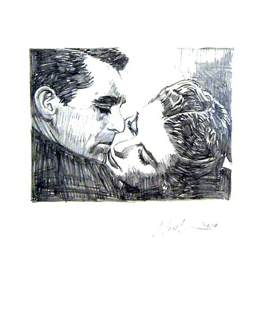 Jonathan Santlofer, 'Cary and Ingrid', 2010, Drawing, Collage or other Work on Paper, Graphite, Jim Kempner Fine Art