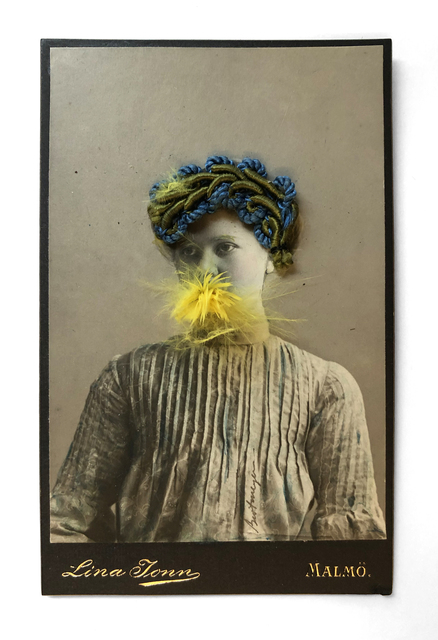 , 'Young Woman Eating a Canary Nº8 (blue and green hat),' ca. 1998, Laurence Miller Gallery