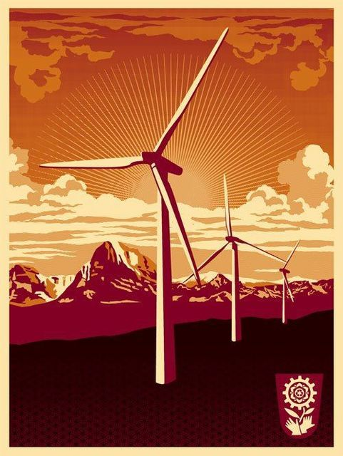 Shepard Fairey, 'Windmill', 2009, AYNAC Gallery