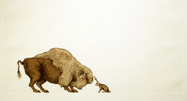 , 'Self-Portrait (Bison and Hare),' 1996, Contemporary Arts Museum Houston