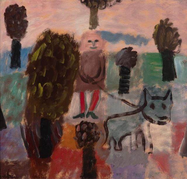 Eugène Brands, 'Meisje met hond (girl with dog)', 1957, Okker Art Gallery