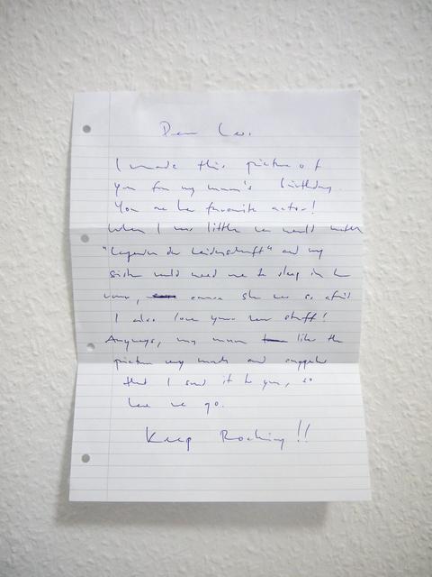 , 'Letter,' 2015, Cultural Avenue
