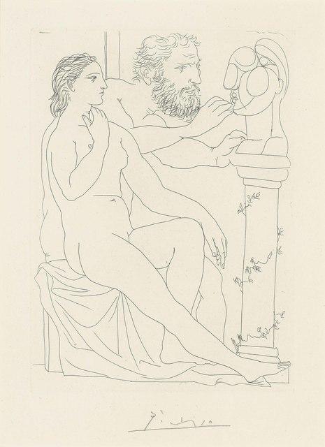 Pablo Picasso, 'Sculpteur, Modèle, et Buste sculpté, from: La Suite Vollard', 1990, SmithDavidson Gallery