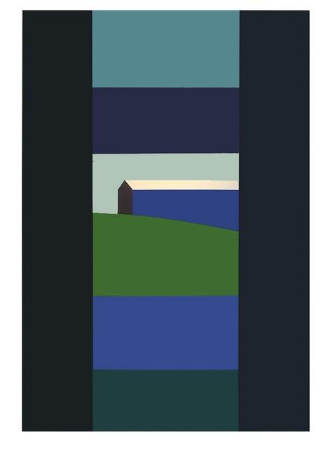 , 'Blue Barn Green Field,' 2013, Oeno Gallery