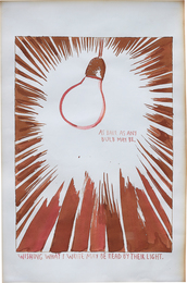 Raymond Pettibon, 'Bulb,' 1990, Phillips: 20th Century and Contemporary Art Day Sale (February 2017)