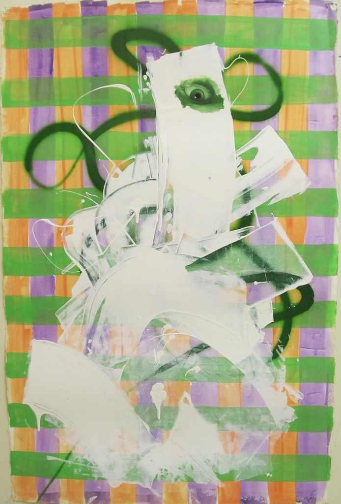 Ed Valentine, 'Untitled Portrait with Green Line and Painted Eye,' 2001, envoy enterprises