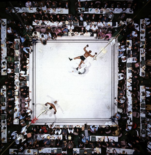 , 'Aerial View of Muhammad Ali Victorious after Round 3 Knockout of Cleveland Williams During Fight at Astrodome, November 14th,' 1966, TASCHEN