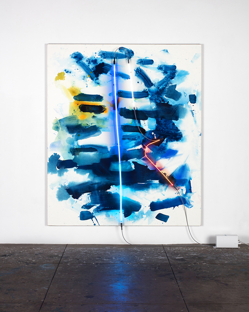 Mary Weatherford, 'hook and harpoon', 2015, David Kordansky Gallery