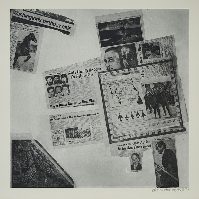 Robert Rauschenberg, 'Features From Currents (From Currents, #57)', 1970, Waddington's