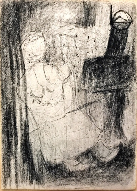 Chu Wei-Bor, 'Preliminary 16k Charcoal & Drawing ', 1957, Double Square Gallery