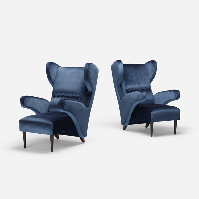 In the manner of Melchiorre Bega, 'armchairs, pair', c. 2010, Wright