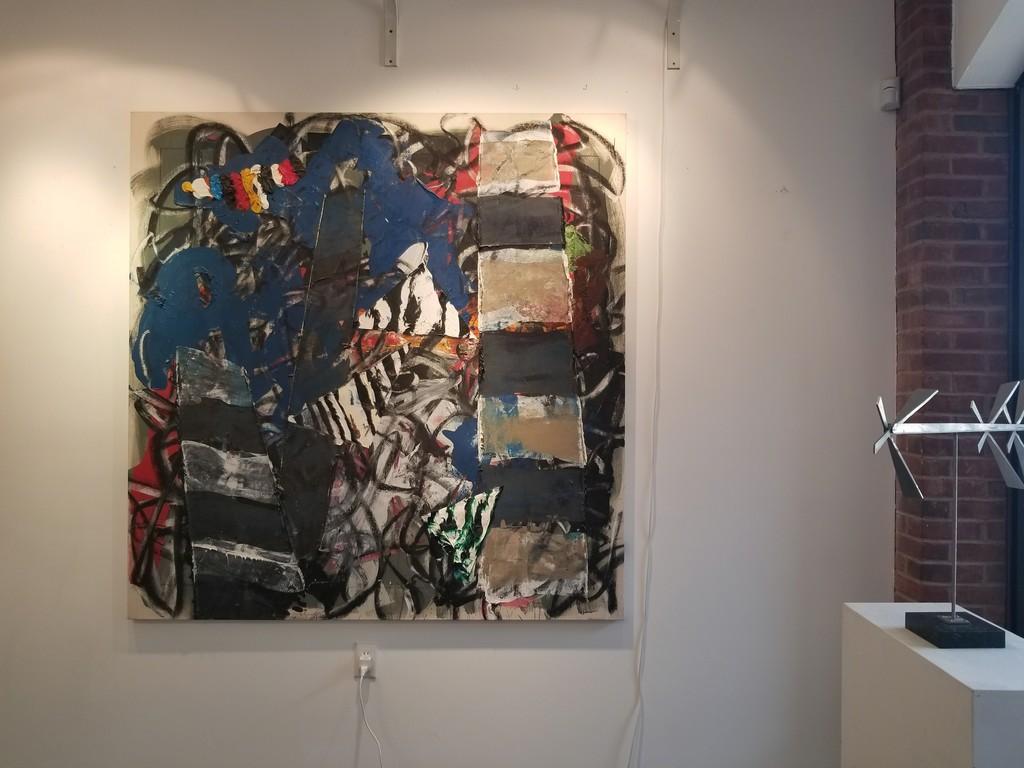 "Michael Goldberg, ""San Paolo in Trono"" 1991, oil on canvas, 67"" x 66"""