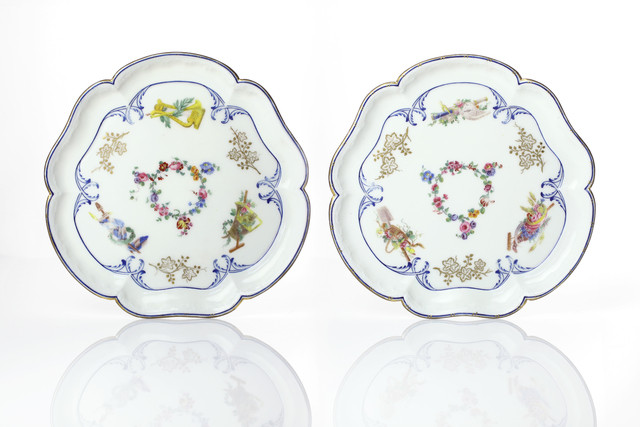 , 'Pair of footed trays (plateaux Bouret) from the Louis XV Petit Trianon Service,' ca. 1763, Michele Beiny Inc.