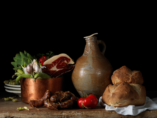 Paulette Tavormina, 'Still Life with Jamón Ibérico, after L.M. (from the series Bodegón)', 2014, Robert Klein Gallery