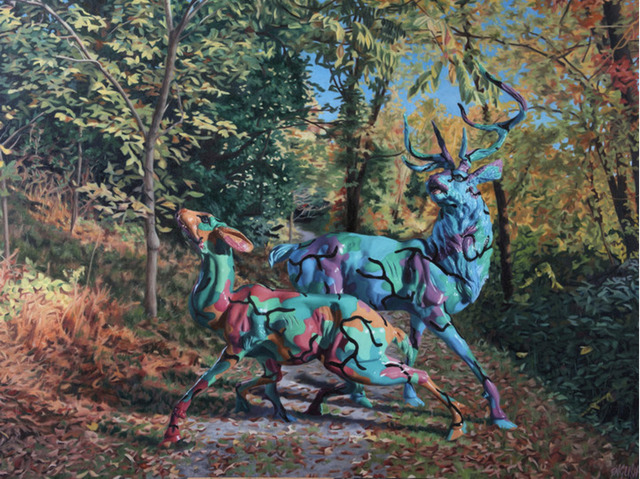 Ron English, 'Painterly Camo Deer', 2015, Corey Helford Gallery