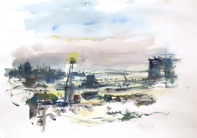 Raoul Middleman, 'Harbor Morning', 2018, C. Grimaldis Gallery