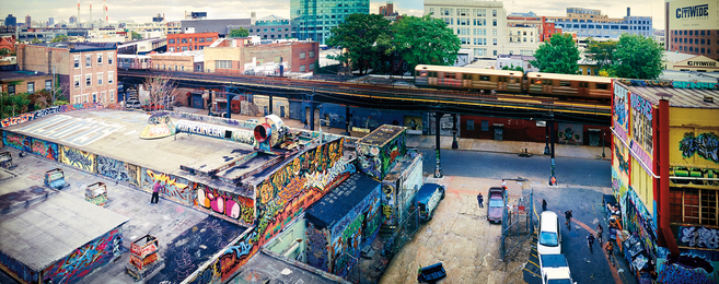 Jeff Chien-Hsing Liao, '5 Pointz, Long Island City from Habitat 7,' 2004, Phillips: The Odyssey of Collecting