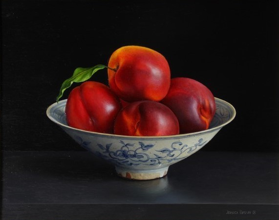 Jessica Brown, 'Still Life with Nectarines in a Chinese Bowl', 2018, Quantum Contemporary Art