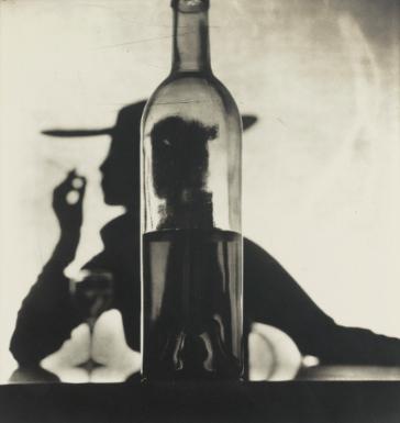 Irving Penn, 'Girl Behind Bottle, New York', 1949, Photography, Platinum palladium print mounted to aluminium, Hamiltons Gallery
