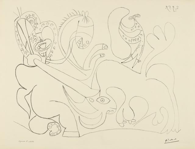 Pablo Picasso, 'La Pique. I (B. 898; M. 324)', 1959, Print, Lithograph, Sotheby's