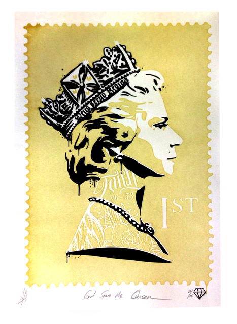 JJ Adams, 'God save the Queen (Gold)', 2014, Reem Gallery