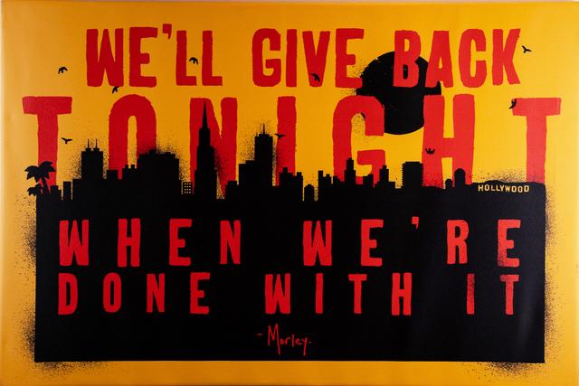 , 'Give Back Tonight,' 2018, EWKUKS