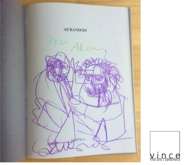 """George Condo, '""""For Allen (Ginsberg)"""", 1997, Inscribed Drawing Signed, Art Random, First Edition, UNIQUE', 1997, VINCE fine arts/ephemera"""