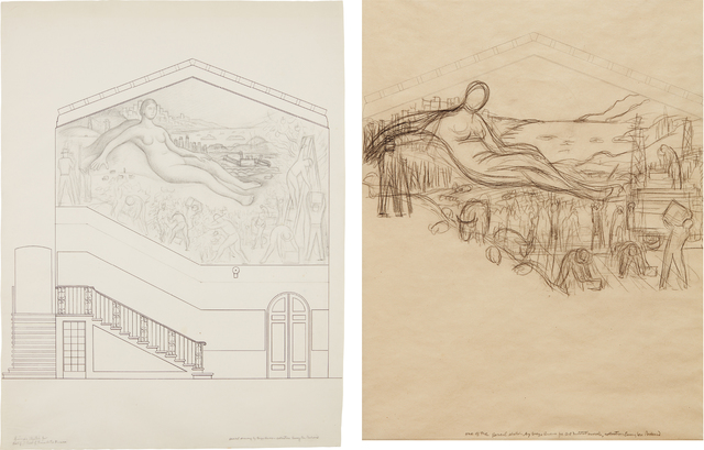 Diego Rivera, 'Two works: i) First Study for the mural project at the California School of Fine Arts (CSFA) ii) Second Study for the mural project at the California School of Fine Arts (CSFA)', 1930-1931, Phillips