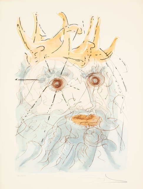 Salvador Dalí, 'King Saul, from Our Historical Heritage', 1975, Print, Engraving with pochoir in colors on, Heritage Auctions