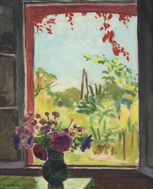 Albert Marquet, 'La fenêtre à Méricourt', 1937, Painting, Oil on canvas laid on panel, HELENE BAILLY GALLERY
