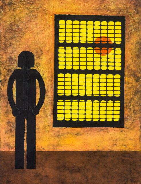 , 'Hombre en la Ventana,' 1980, LS// Galería
