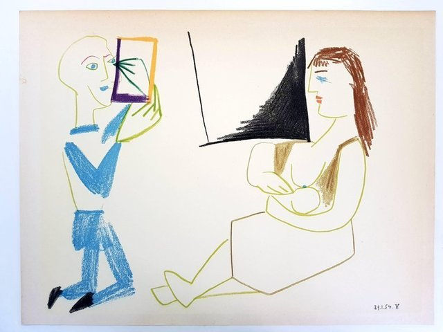 """Pablo Picasso, 'Lithograph """"Human Comedy VII"""" after Pablo Picasso', 1954, Galerie Philia"""