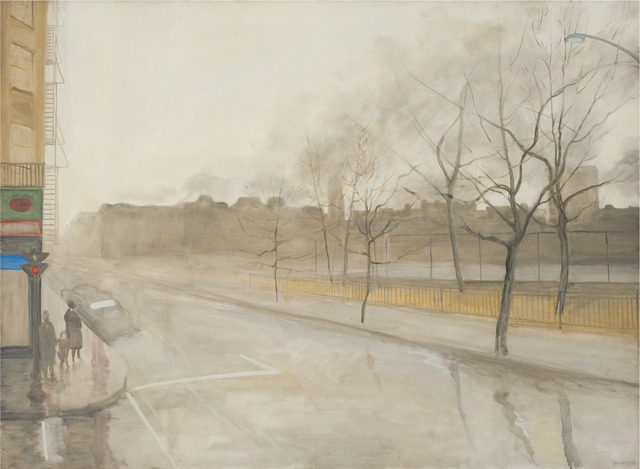 , 'Rain on Avenue B,' 1965, Parrish Art Museum