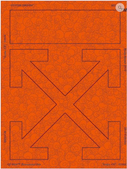 Takashi Murakami, 'Memento Mori: Fluourescent Orange', 2018, MSP Modern