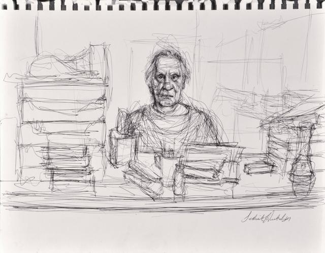 Sedrick Huckaby, 'untitled (man at a desk)', 2012, Thomas French Fine Art