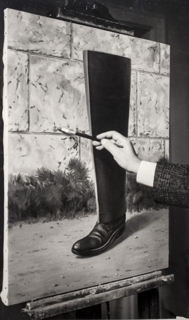 """, 'René Magritte peignant """"Le Puits de Vérité"""" (1962-1963), Bruxelles,' 1962-1964, Bruce Silverstein Gallery"""