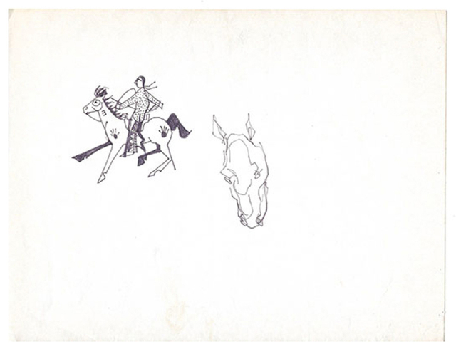 T.C. Cannon, 'A Man's Best Friend the Horse', 1979, LMAKgallery
