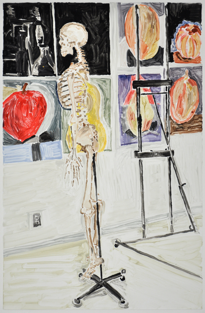 Gail Norfleet, 'The Painting Class', 2009, Print, Color monotype with oil color additions on Somerset Velvet paper, Valley House Gallery & Sculpture Garden