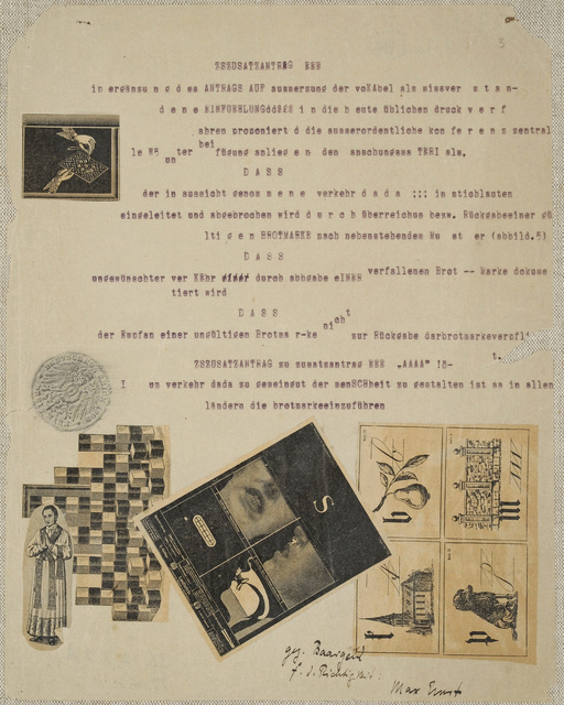, 're = de laut ! sei tap = fer !,' 1920, Galerie Natalie Seroussi