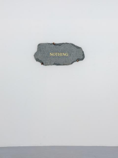 , 'Nothing,' 2018, SARIEV Contemporary