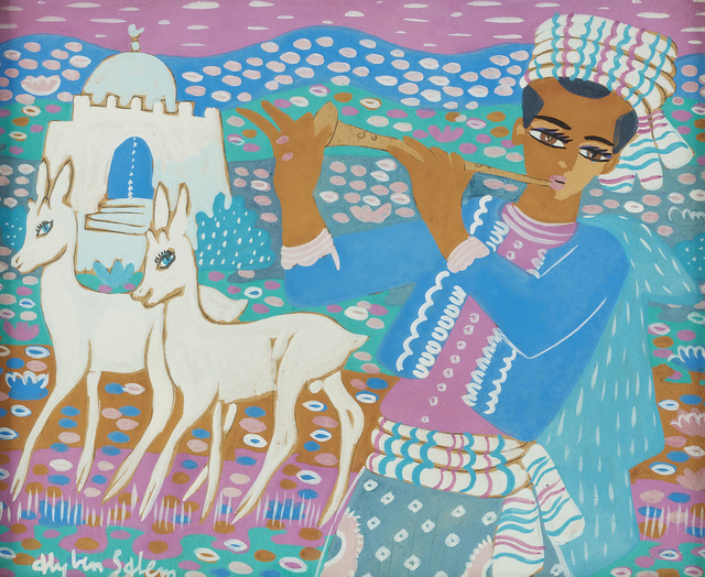 , 'Music man with deer,' ca. 1970, Elmarsa