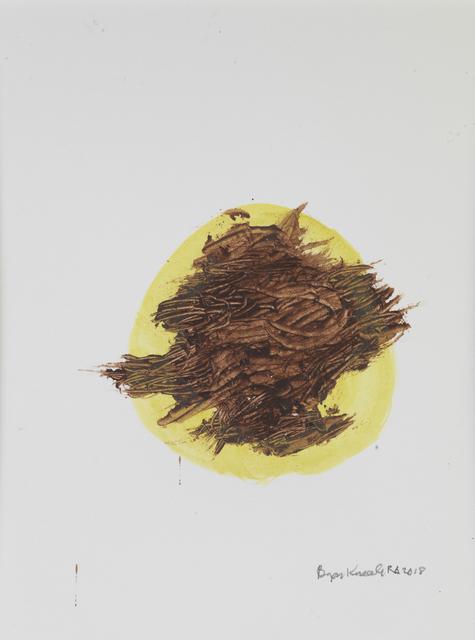Bryan Kneale, 'Untitled - Brown on Yellow Disc ', 2018, Pangolin London